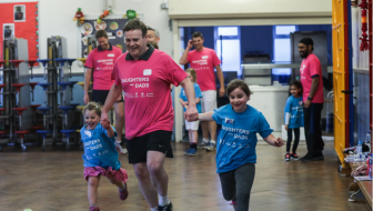 Daughters and Dads Active and Empowered stretches to London